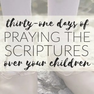 31 days praying the scipture over your children jordan harrell ebook
