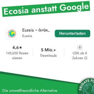 Türchen 15: Klimafreundliche Alternative  zu Google