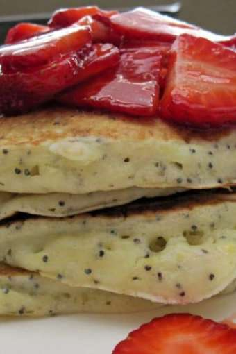 Lemon Poppyseed Pancake Brunch