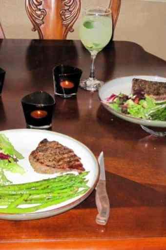 Candlelit Steak Dinner