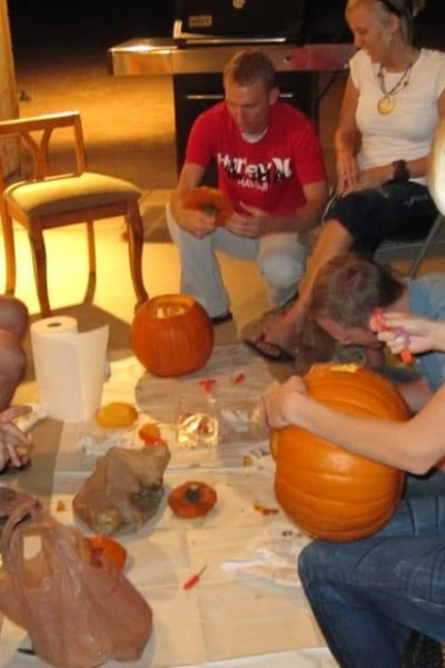 Pumpkin Carving Group Date Night