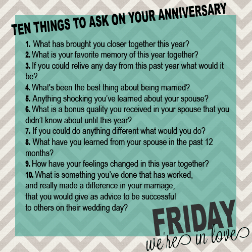 Questions To Ask On Your Anniversary