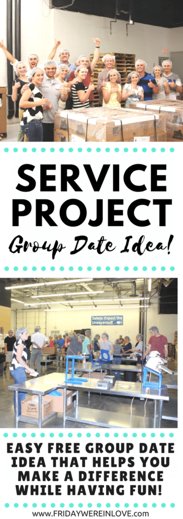 Service Project Group Date Idea: This is a fun, free, easy group date idea for adults (or group date idea for teens) that helps you do some good while having fun!
