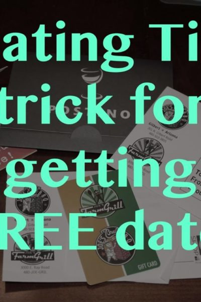 Our Trick for Getting FREE Dates: Small Business Saturday Gift Cards