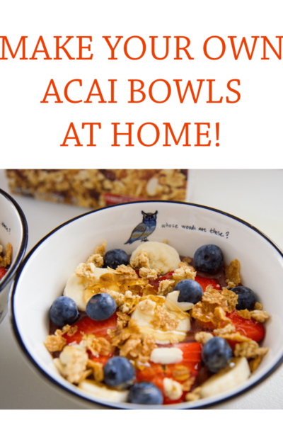 Make your own acai smoothie bowls at home