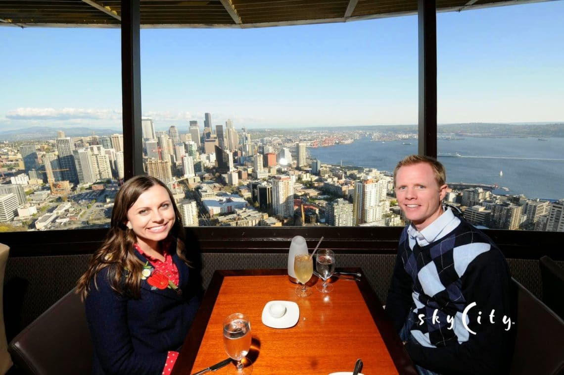 We left the restaurant  Seattle Getaway  Anniversary Dinner  Seattle Space Needle  . Dinner Seattle Space Needle. Home Design Ideas