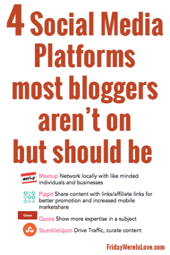 4 Social Media Platforms Most Bloggers Aren't on But Should Be: Tidbits From My Alt Summit The Business of Blogging Presentation