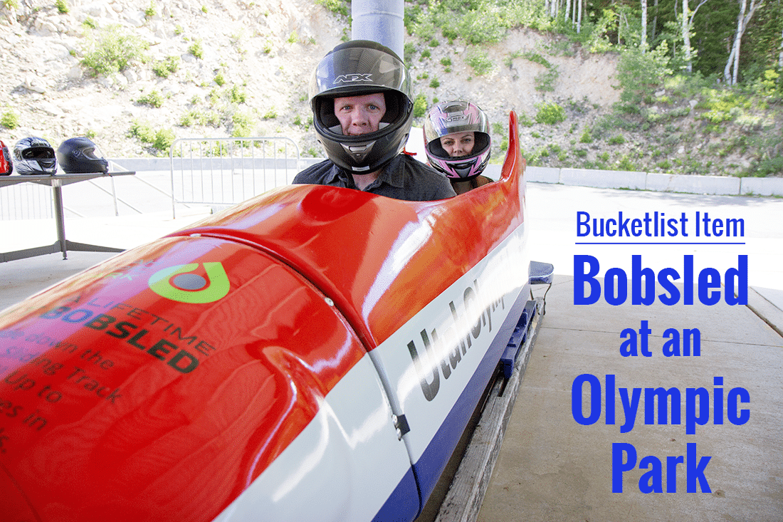 Buckletlist Item: Bobsled on an Olympic Track