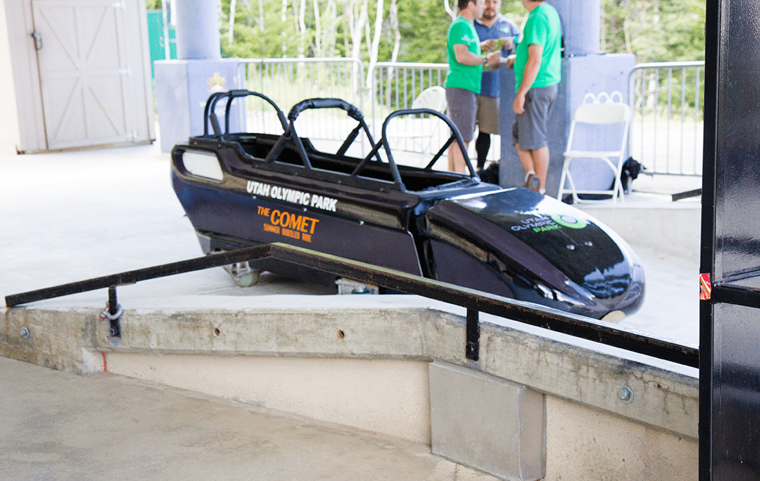 Ride in a bobsled
