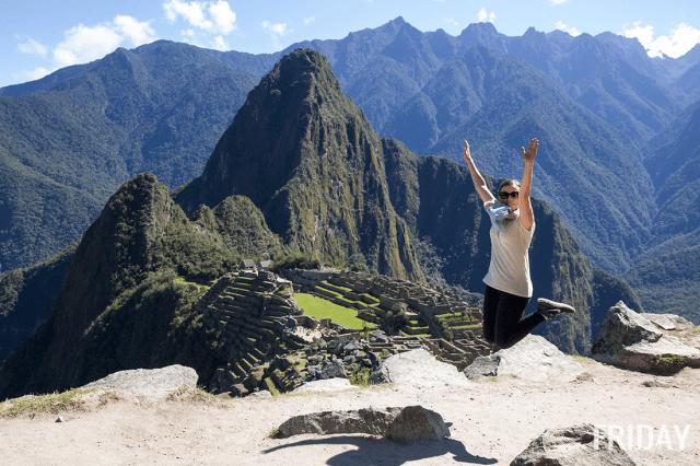 Machu Picchu Jumping Pic