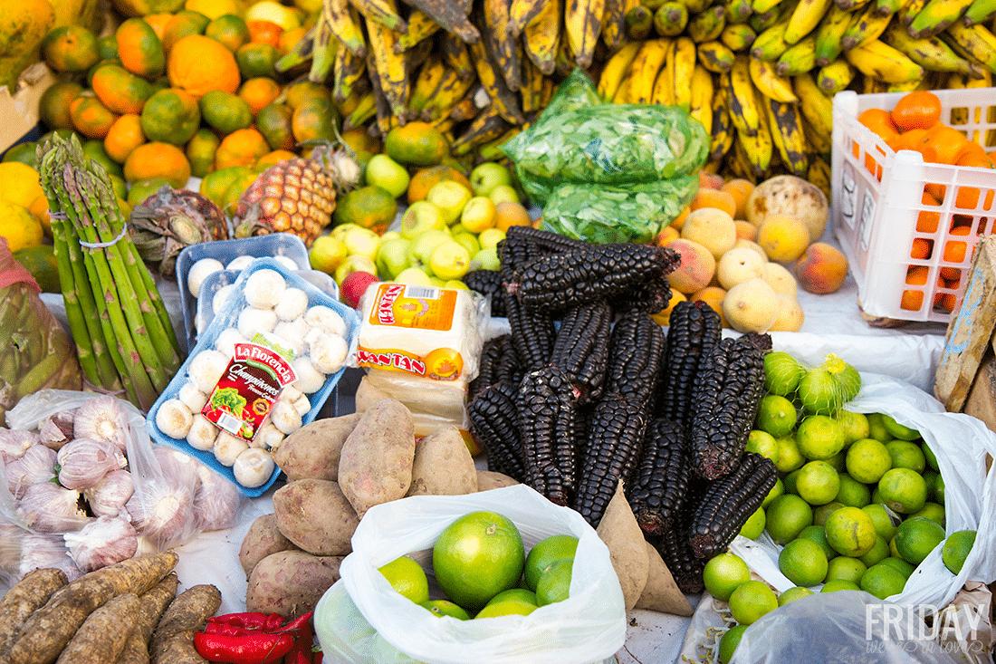 Produce Varities Pisac Market
