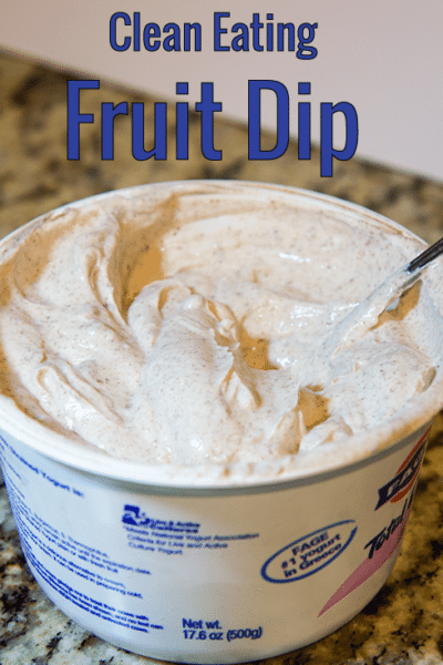 Clean eating fruit dip
