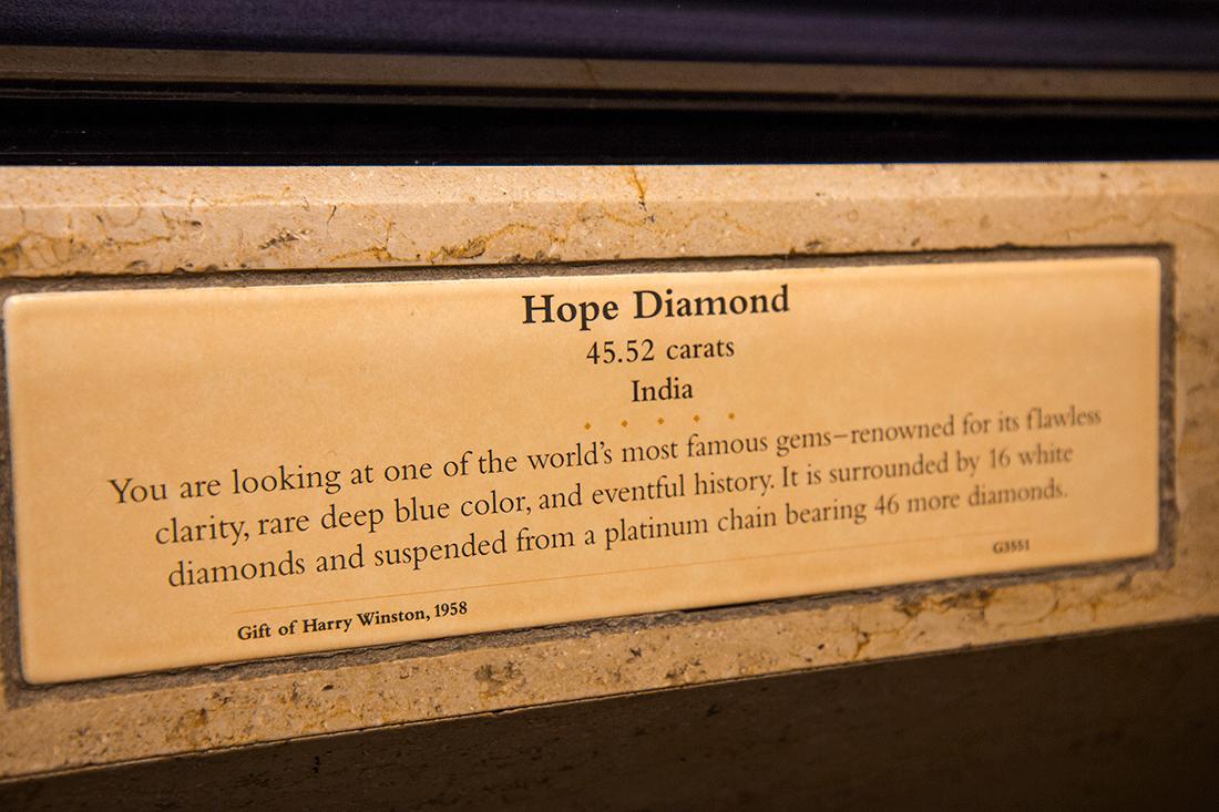 The Hope Diamond Exhibit