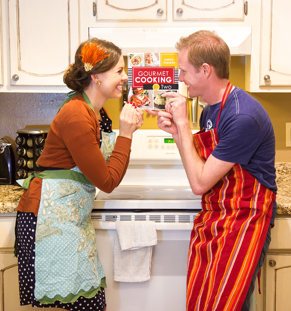 Romantic Date Night- Cook a Romantic Meal at Home with couple cooking made easy and romantic!