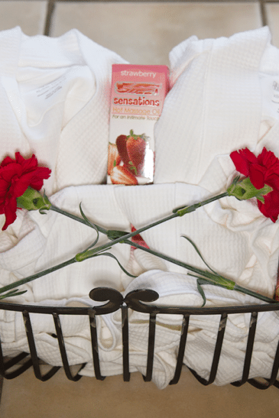 Romantic Valentine's Day Couple's Massage Gift Basket