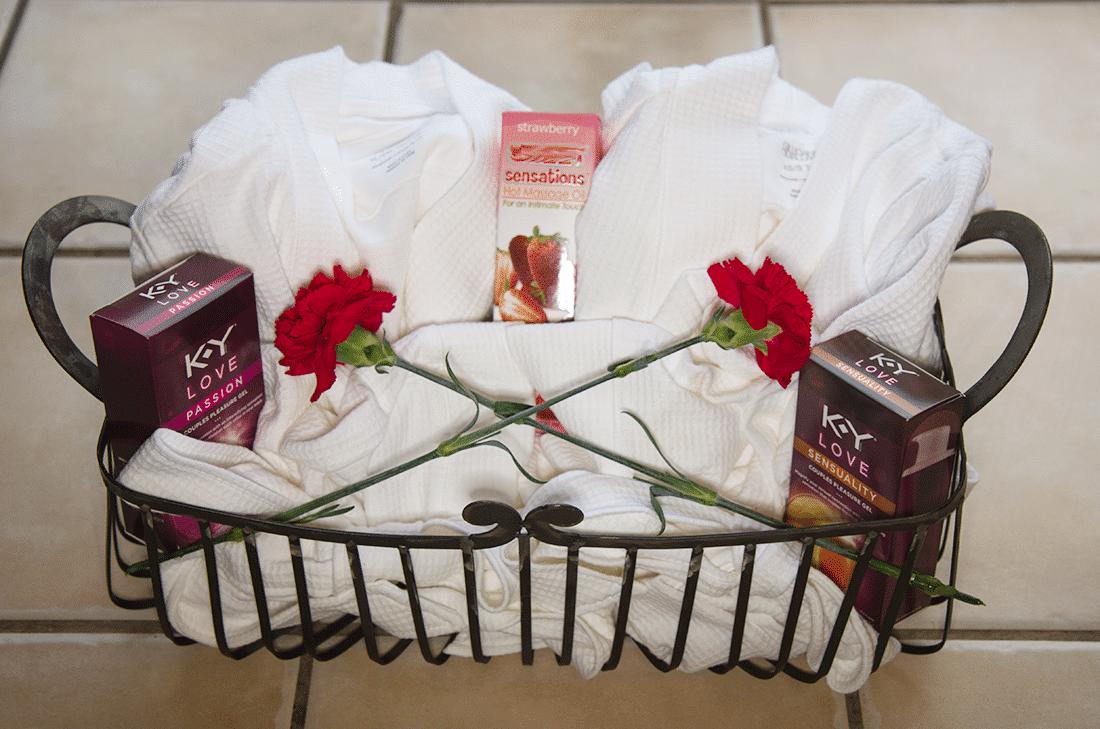 Couples Massage Romantic Gift Basket