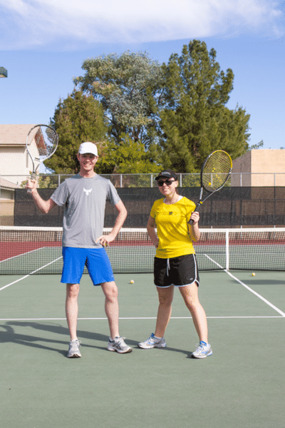Couple's Tennis Match