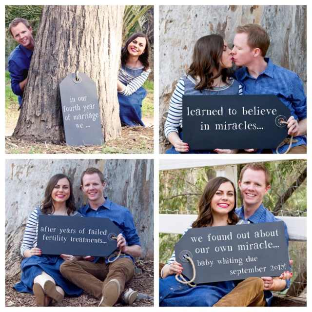 Miracle pregnancy announcement