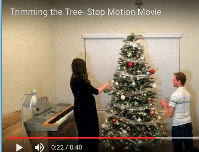 Trimming the Tree Stop Motion Movie
