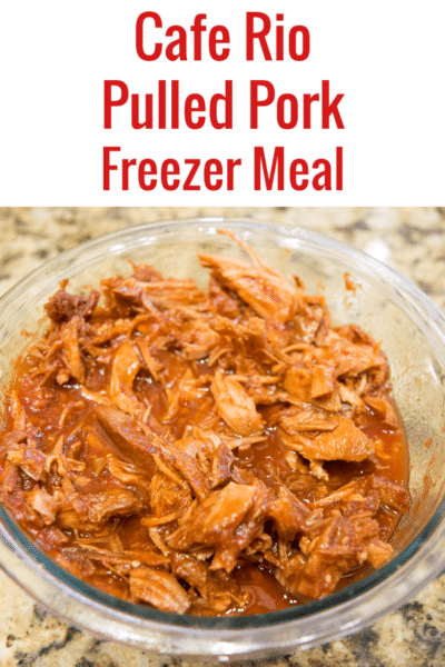 Cafe Rio Sweet Pork Crock Pot Freezer Meal