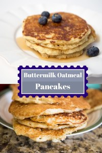 Old Fashioned Buttermilk Oatmeal Pancake Recipe
