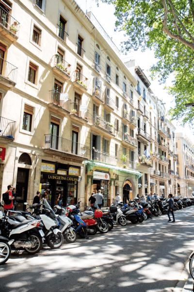Las Ramblas in Barcelona Spain