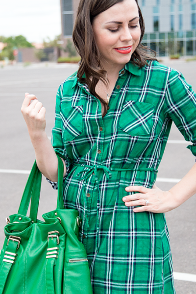 Little Green Plaid Dress