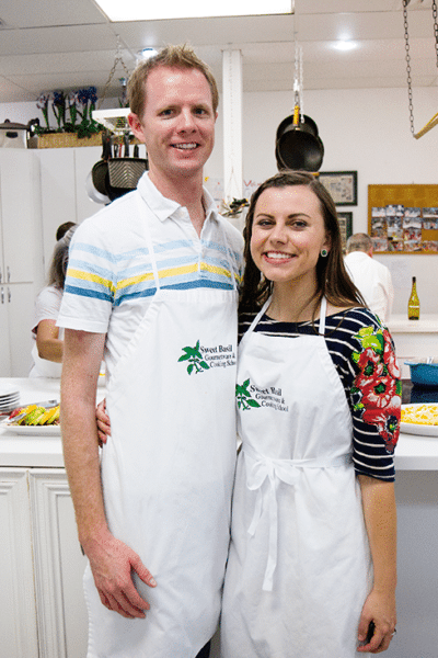Sweet Basil Gourmet Couples Cooking Class