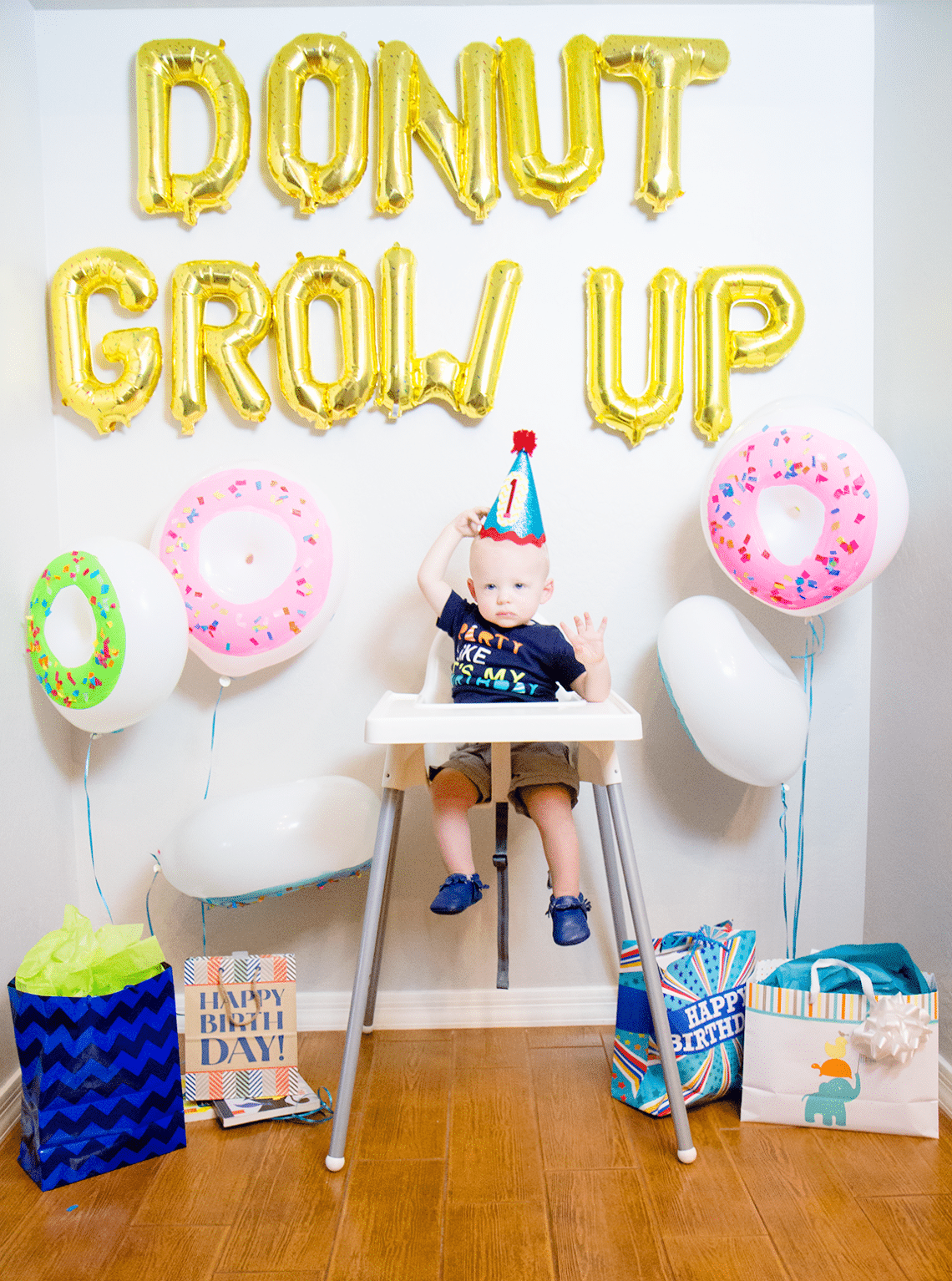 Donut grow up 1st birthday party friday we 39 re in love for 1st bday decoration ideas