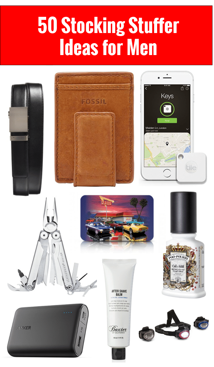 50 Stocking Stuffer Ideas for Men: Stocking stuffers for him at every price point!