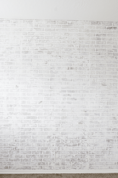 DIY Faux Brick Wall Tutorial