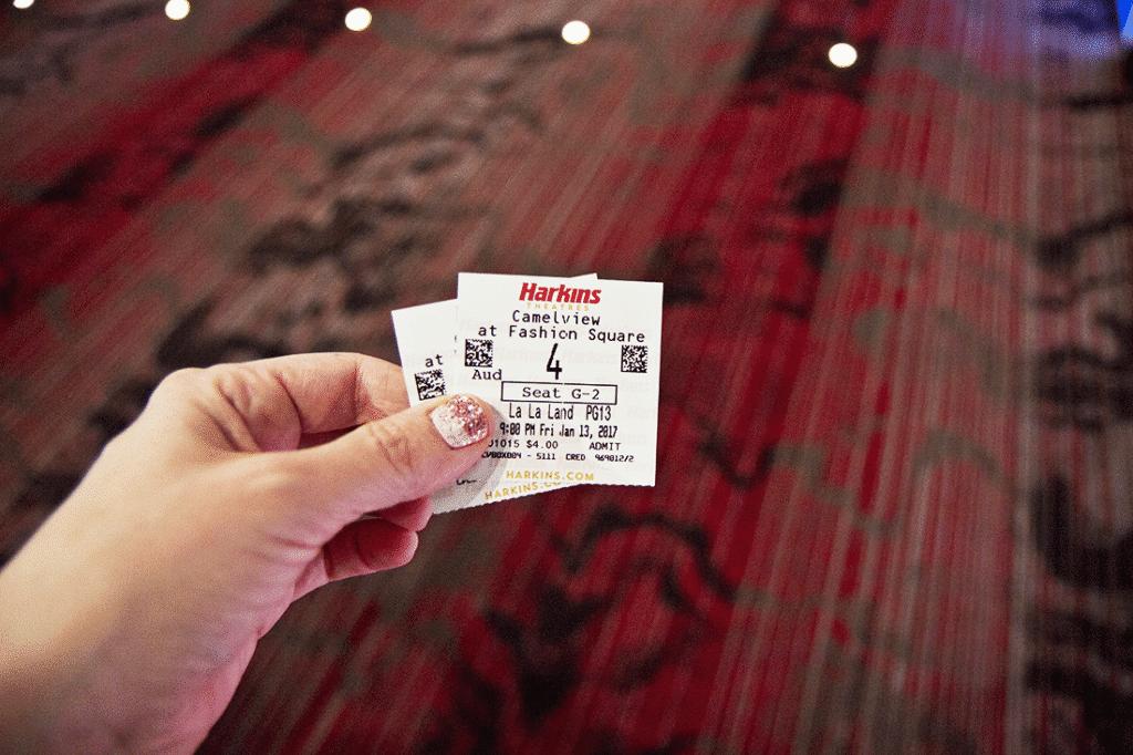 La La Land Movie Ticket