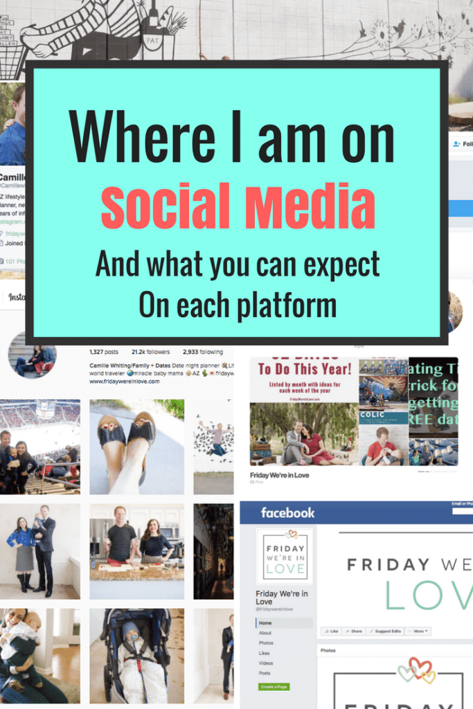 Where I am on social media and what you can expect on each platform