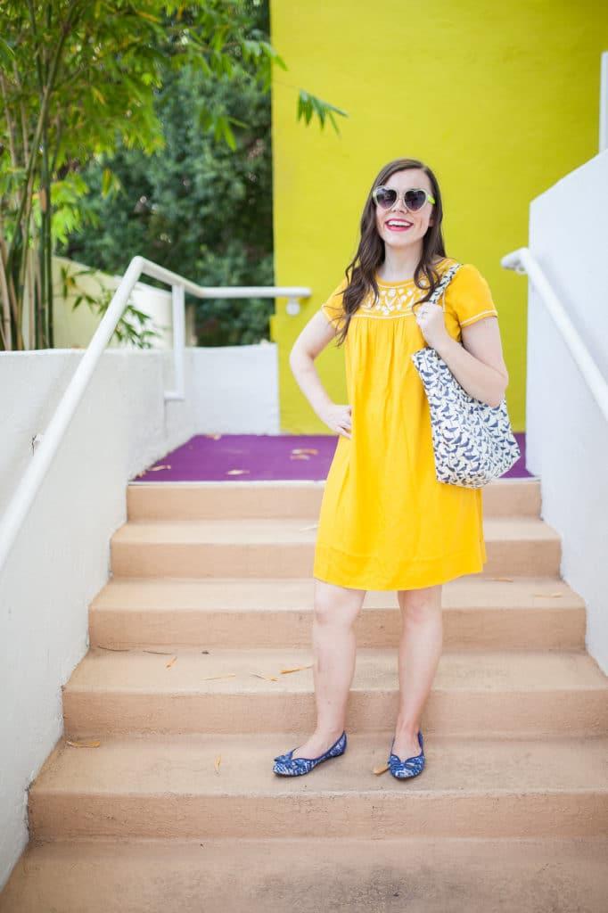 Yellow summer sundress