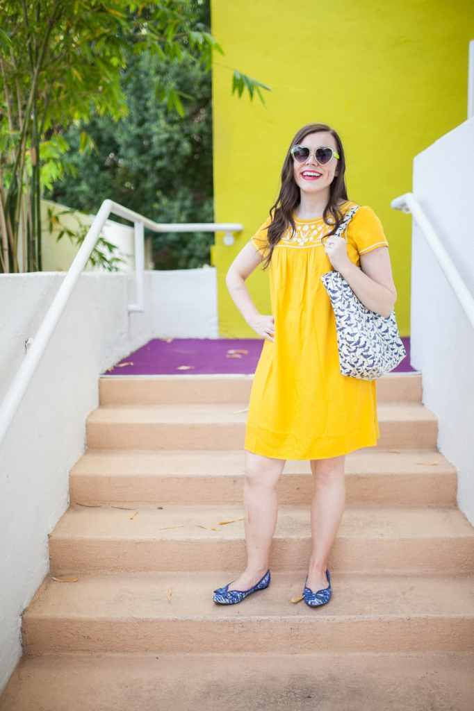 Yellow summer sundress