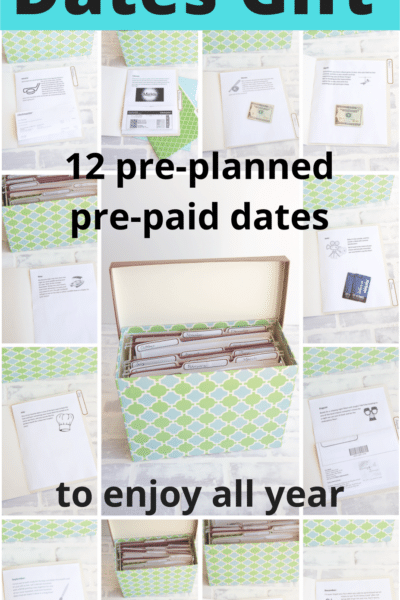 Year of Dates Gift: A Folder of 12 Dates to Enjoy All Year