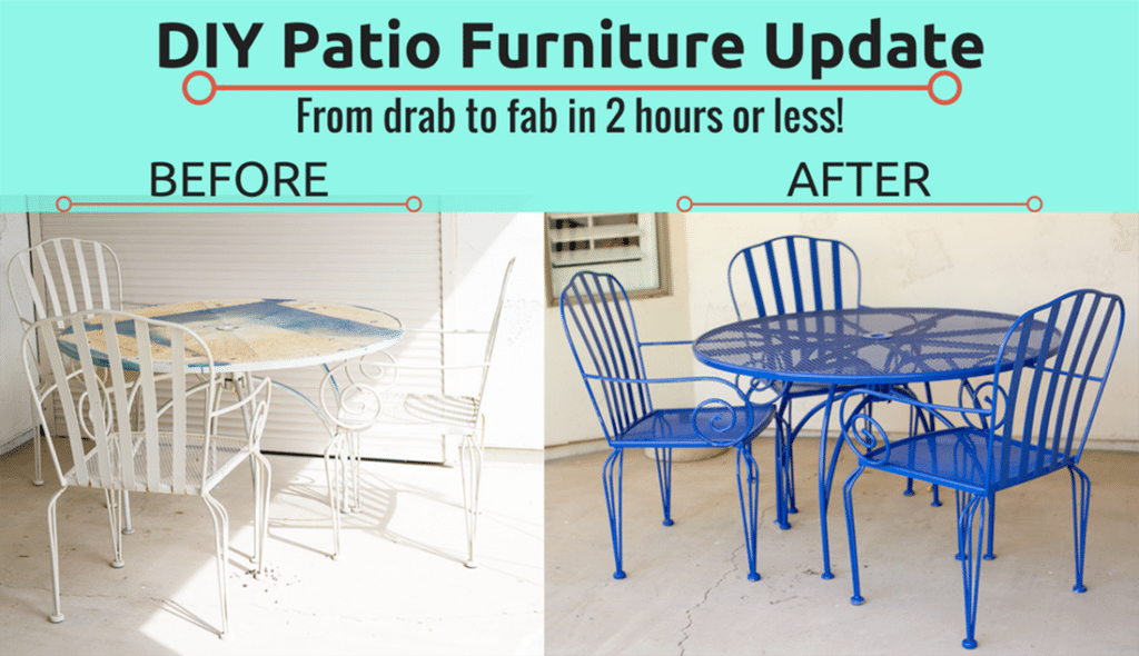 Tremendous Easy Diy Backyard Patio Furniture Transformation Friday We Home Interior And Landscaping Ologienasavecom