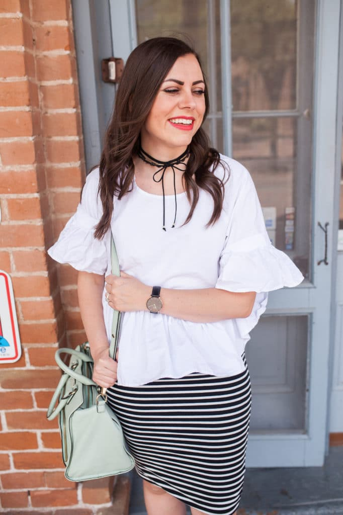 Bell Sleeve white blouse