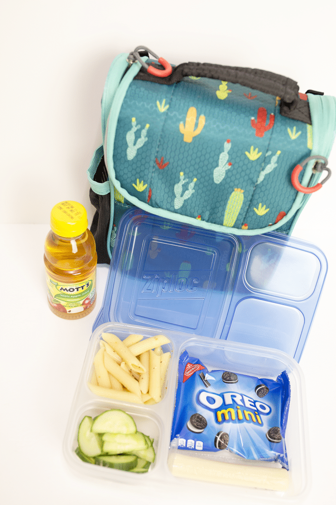 Lunch in a snap! Back to School lunch idea including a non-sandwich lunch idea