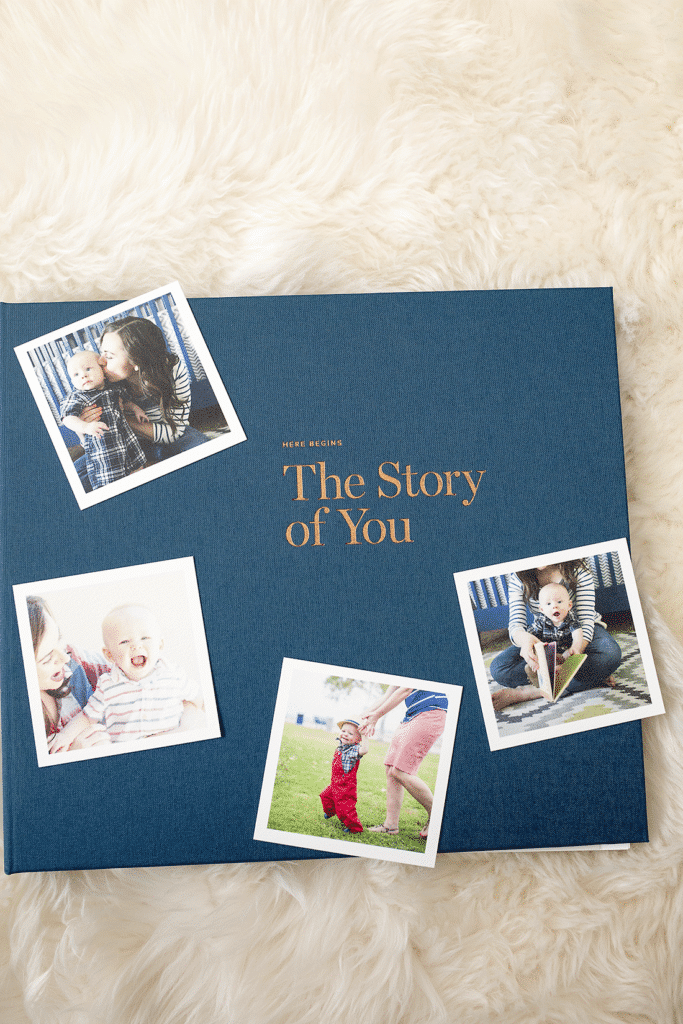 the perfect baby book: this modern baby book is so well designed, and is an easy baby book idea that helps preserve those little memories perfectly!