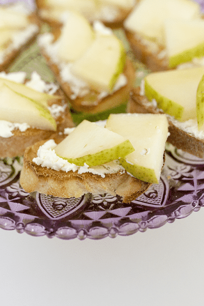 Pear and Goat Cheese Bruschetta