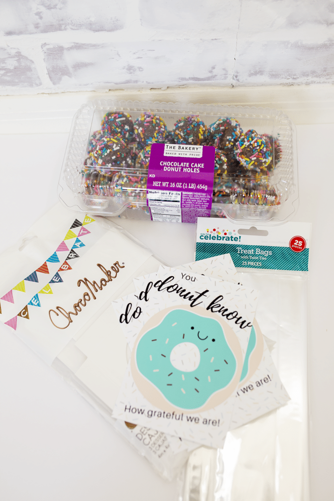 Easy thank you gift- donut thank you free printable