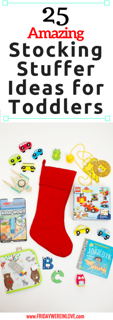 25 Amazing Stocking Stuffer Ideas for Toddlers: so many great ideas of toddler stocking stuffers that they'll play with and love!