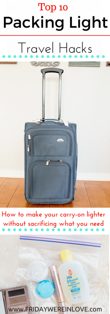 I'm excited to be partnering with @johnsonsbaby. Top 10 Packing Light Travel Hacks: How to make your carry-on lighter without sacrificing what you really need #ad #everwonder @JohnsonsBaby