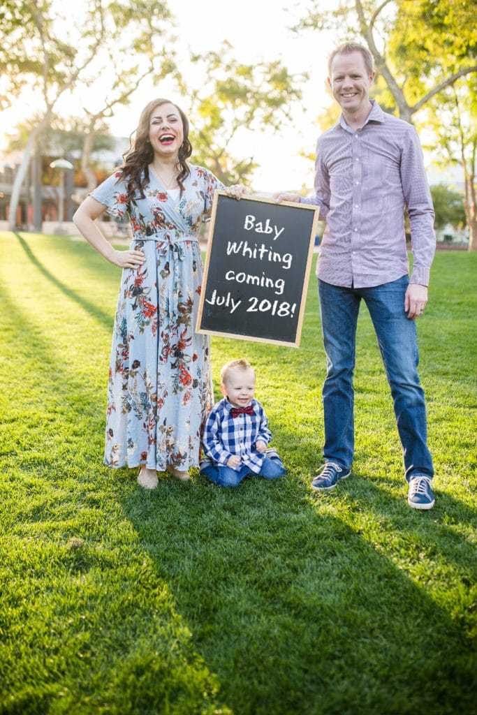 Infertility pregnancy announcement