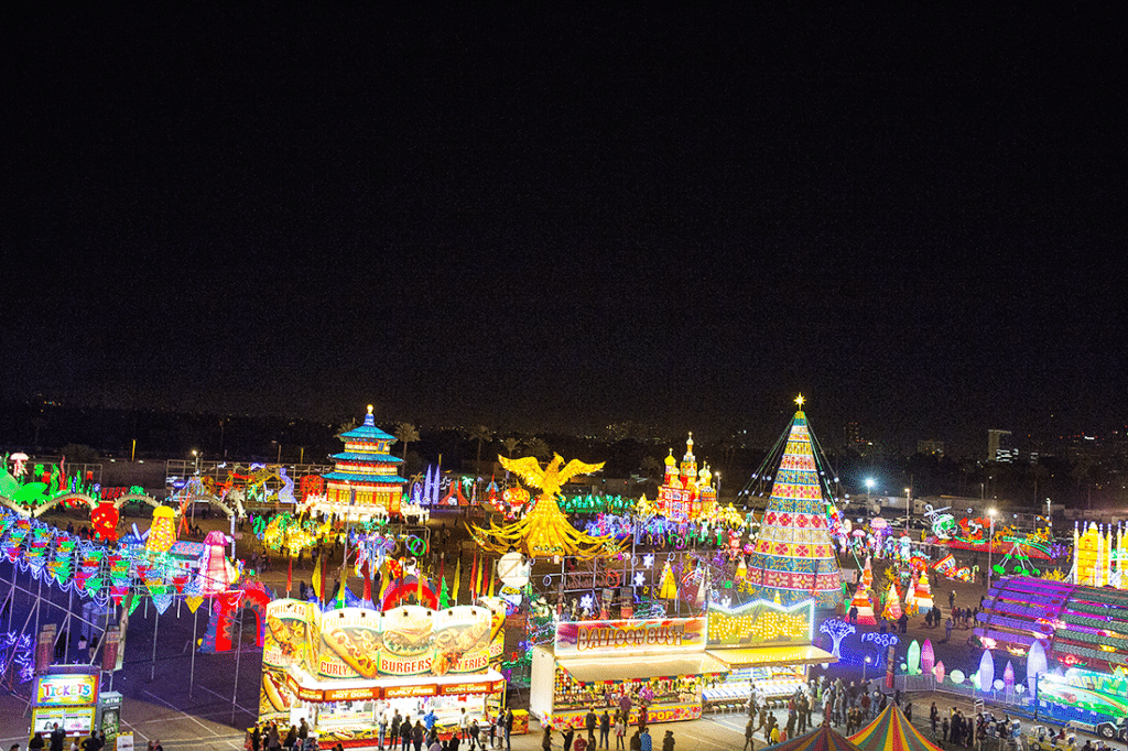 Lights of the World family date night at the fairgrounds. Such a fun romantic date you can easily do as a couple or family to enjoy during or after the holidays