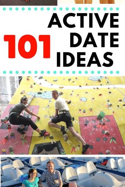 101 Active Date Ideas: active date ideas for winter and summer, sporty date ideas, and active date ideas for all fitness levels!