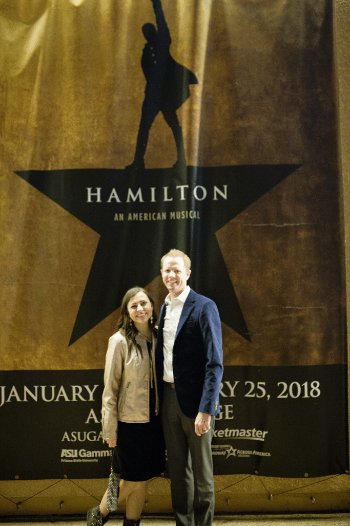 Hamilton musical date night with review and thoughts on the Hamilton tour