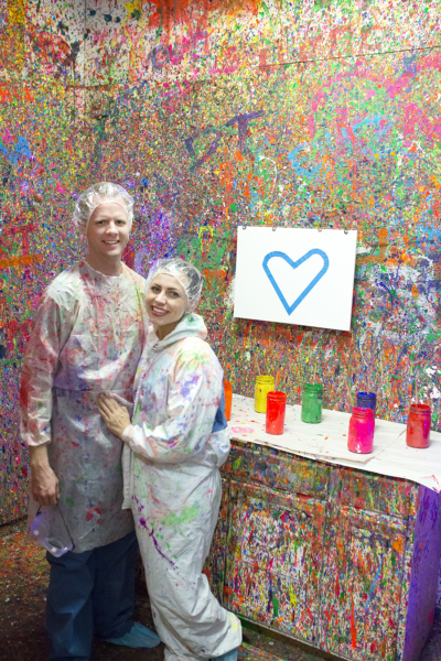 Paint splatter studio date night: A night with splatter paint paintings and tons of fun!