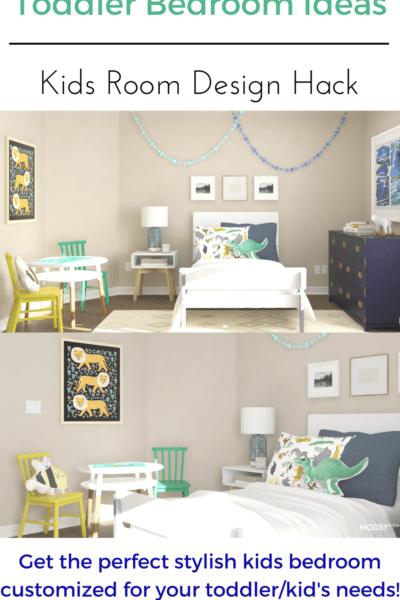 Toddler Bedroom Ideas: Kids bedroom design perfect for your toddler boys bedroom with plenty of room to grow into!
